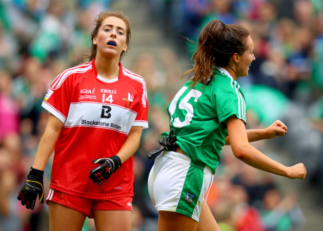 Mairead Kavanagh celebrates scoring her second goal