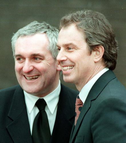 Ulster talks Ahern/Blair smile