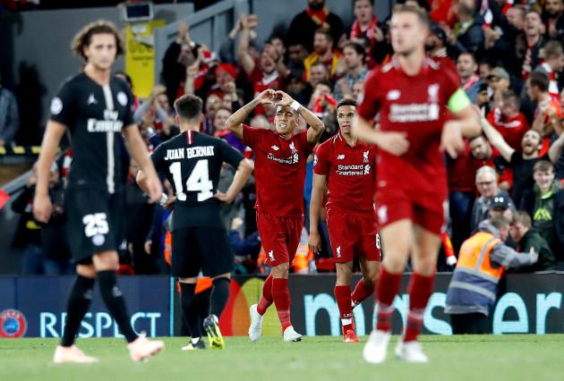 Liverpool v Paris Saint-Germain - UEFA Champions League - Group C - Anfield