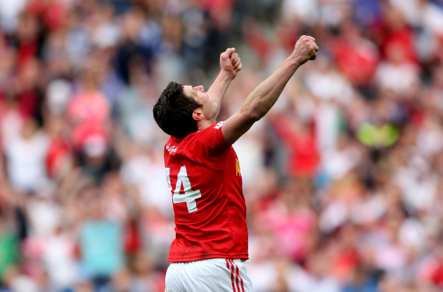 Sean Cavanagh celebrates at the final whistle