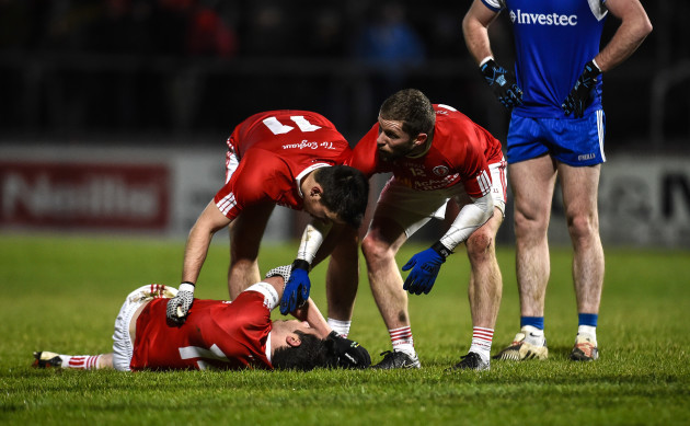 Sean Cavanagh down injured