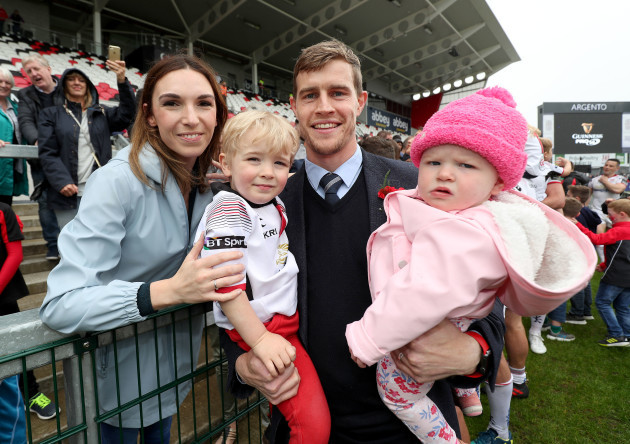 Andrew Trimble with his Wife Anna, son Jack and daughter Molly