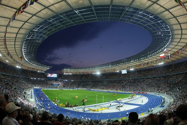 A general view of the Olympic Stadium in Berlin