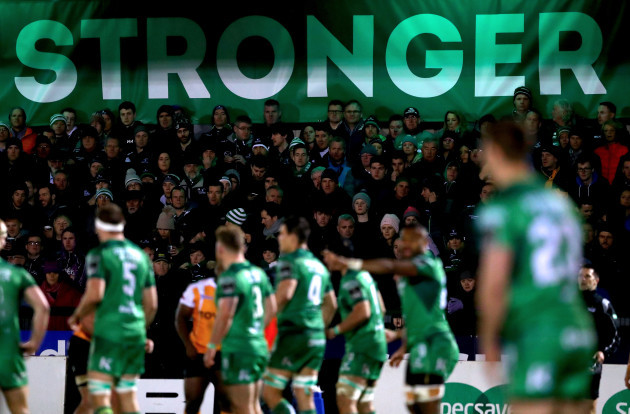 A view of Connacht fans