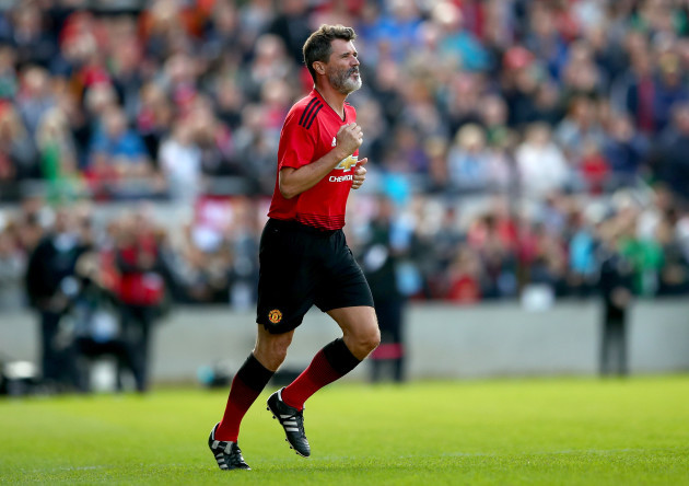 Roy Keane takes to the field