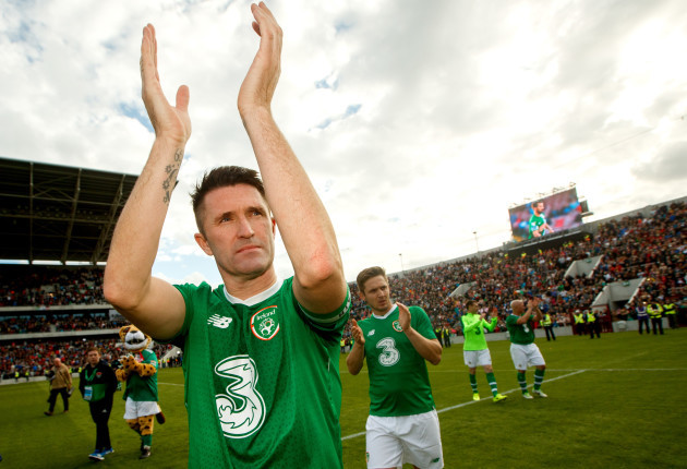 Robbie Keane after the game