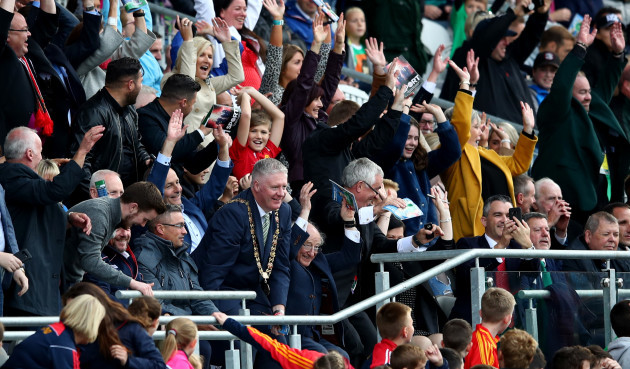 Michael D Higgins performs the Mexican wave