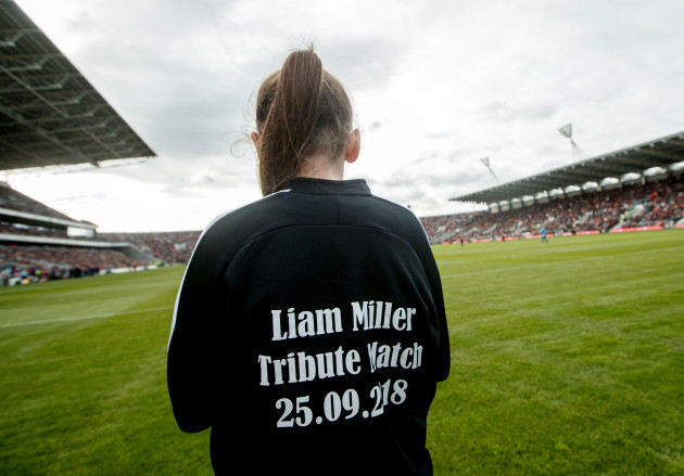 A view of a Liam Miller Tribute Match jacket