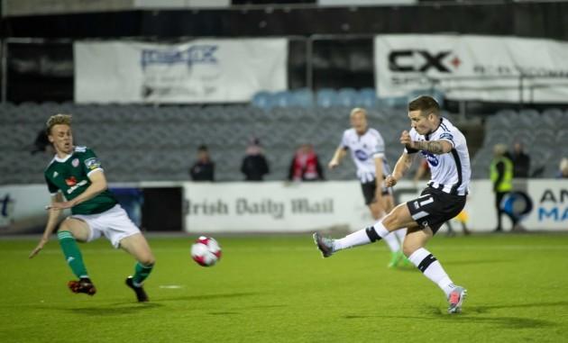 Patrick McEleney scores a goal