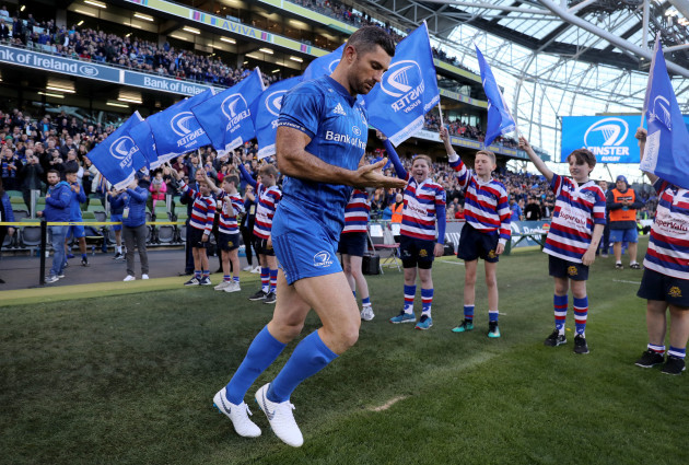 Rob Kearney takes to the field for his 200th cap