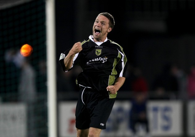 Shaun Williams celebrates at the final whistle