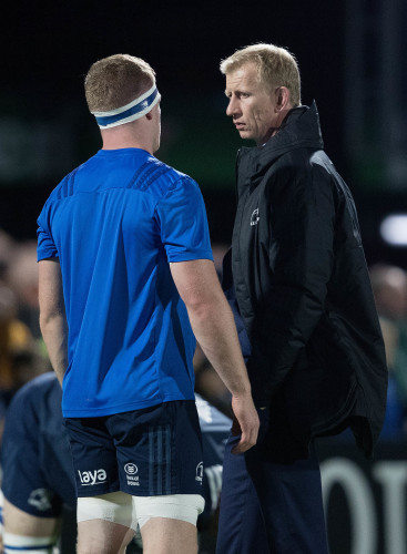 Leo Cullen with Dan Leavy before the game 12/10/2018