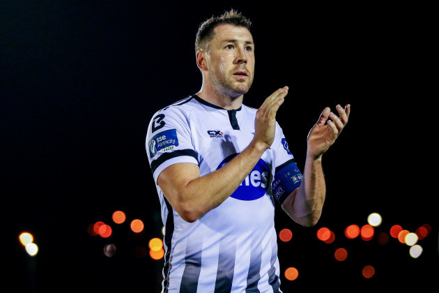 Brian Gartland celebrates after the game 12/10/2018