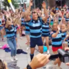 Irish rugby star rocks Cardiff as part of surprise flash mob