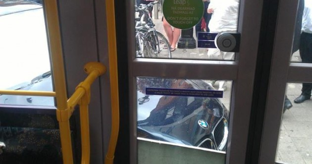 Luas tram and car collide in minor incident