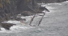 All aboard saved after Tall Ship Astrid runs aground off Kinsale