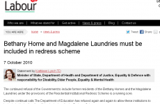Minister said Bethany Home must be included in redress scheme… in 2010