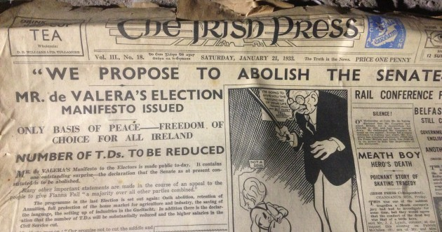 Seanad abolition was proposed 80 years ago