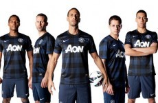 Man United launch new black and navy check kit