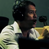 Michael Owen rehearses for his commentary debut with BT Sport