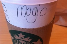 This is what happens when Padraig goes to Starbucks