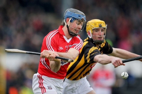 Kilkenny's Colin Fennelly and Christopher Joyce of Cork.