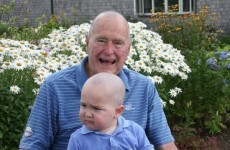 George Bush Senior shaved his head in solidarity with a young cancer patient