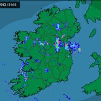 Heavy and thundery downpours forecast tonight with rain and sun tomorrow