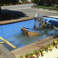 Car with built-in pool seized by police