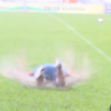 Man City make the most of 'swimming pool' pitch by doing Klinsmann dives
