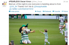 Special night for Wee Oscar! It's the sports tweets of the week