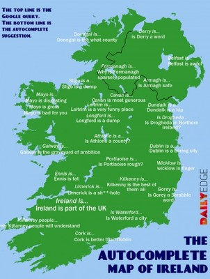 Dundalk Map Of Ireland.The Google Autocomplete Map Of Ireland The Daily Edge