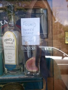 Did you lose these false teeth in Kerry?