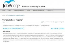 "JobBridge primary teacher ad slammed as ""exploitative"""
