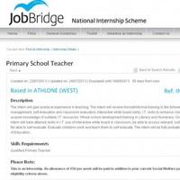 "JobBridge primary teacher ad slammed as ""exploitative"""