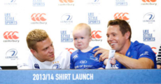 Young Leinster fan doesn't take kindly to Isaac Boss ruining his new jersey