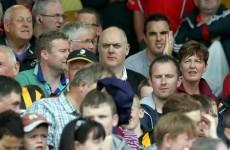 Snapshot: Dara Ó Briain takes in the hurling action at Semple Stadium
