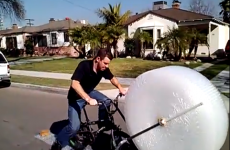Man invents bike that pops bubble wrap as you cycle