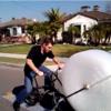 Man invents bike that pops bubble wrap as you cycle