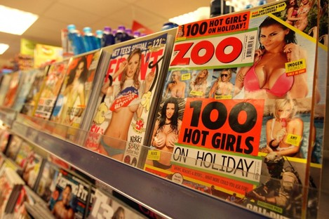 File photo of 'lads' mags'