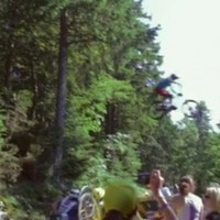 Here's how that biker jumped over the Tour de France