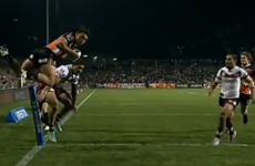 Australian rugby league player scores incredible flying try