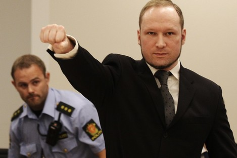 Anders Behring Breivik in court last year