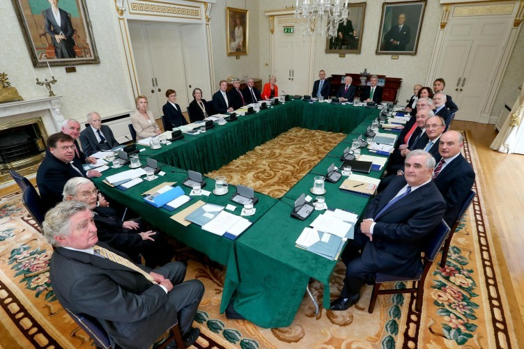 Council of State meeting at Áras an Uachtaráin yesterday.