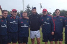 Snapshot: Munster's young guns swap notes with Dan Shanahan