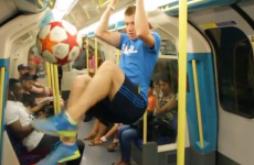 World freestyle champion shows off his skills on the London Underground