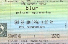 Blur play Dublin tonight... but what was your first gig ever?