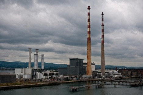 The Poolbeg power station, close to where the new incinerator will be built
