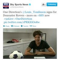 WTF? One Direction's Louis Tomlinson signs for Doncaster Rovers