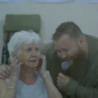 What happens when a rapper performs in an old folks' home?